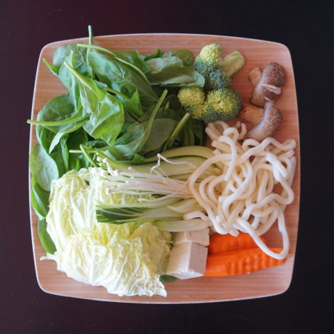 mixed vegetables plate